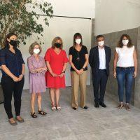 Idoia Mendia, Vicelehendakari y Consejera de Trabajo y Empleo, acompaña a Gizatea en la presentación de su Memoria Social 2020