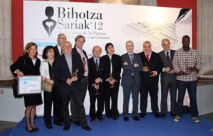 Liburki y Goiztiri son galardonadas en los Premios Bihotza Sariak 2012.