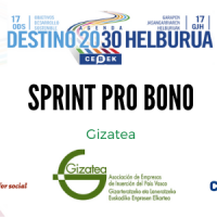 GIZATEAk CEBEKek antolatutako Sprint Pro Bono Birtualan parte hartu du